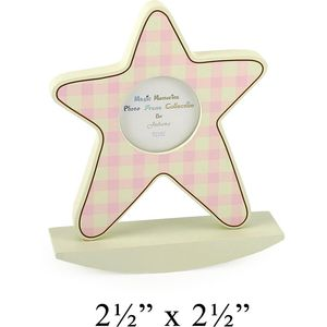 Baby Girl Star Picture Frame 2.5x2.5""