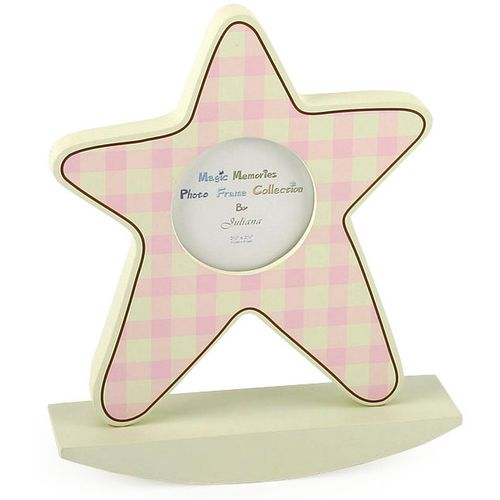 Baby Girl Star Picture Frame on rocking plinth