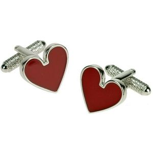 Playing Card Suit Cufflinks - Hearts