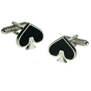 Playing Card Suit Cufflinks - Spades