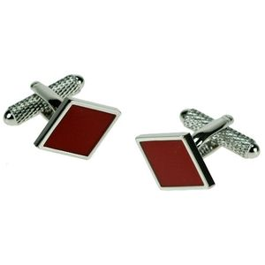 Playing Card Suit Cufflinks - Diamonds