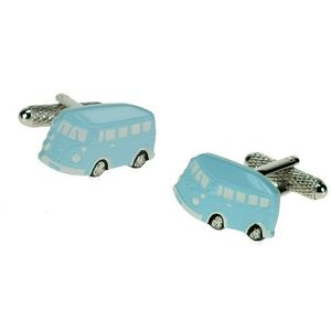 Camper Van Cufflinks - Pale Blue