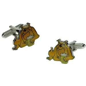 British Bulldog with Pint Cufflinks