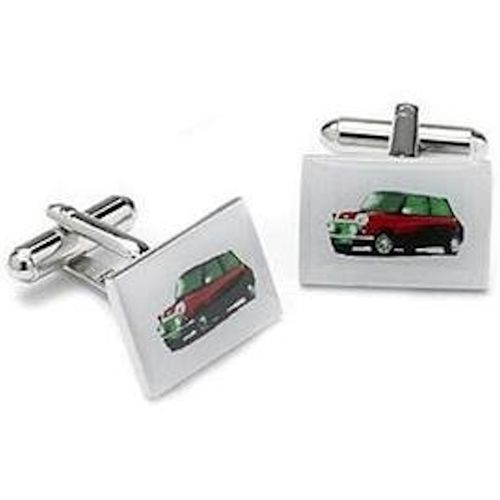 Classic Red Mini Car Cufflinks