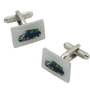 Blue Mini Car Cufflinks