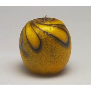 Decorative Candle - Large Apple (Yellow)