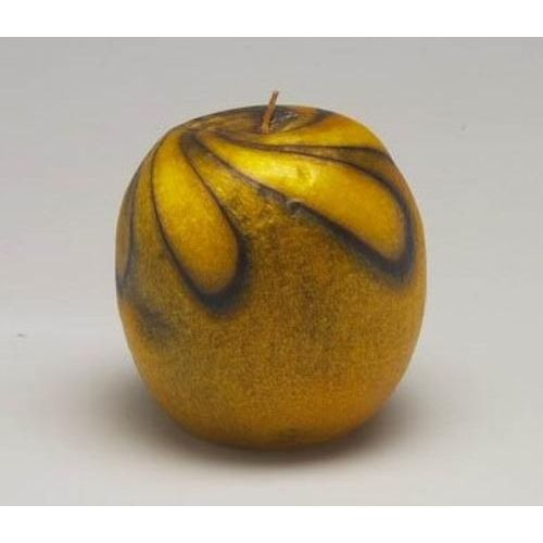 Decorative Large Apple Candle -  Yellow