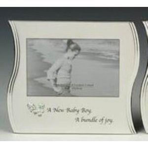 "A New Baby Boy Wave Photo Frame 6x4"""