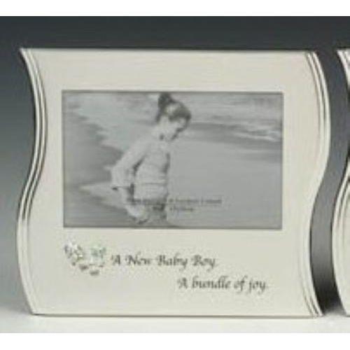 "A New Baby Boy Wave Photo Frame 6"" x 4"""