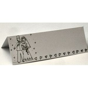 Wedding Place Cards Pack of 12 - Bride & Groom