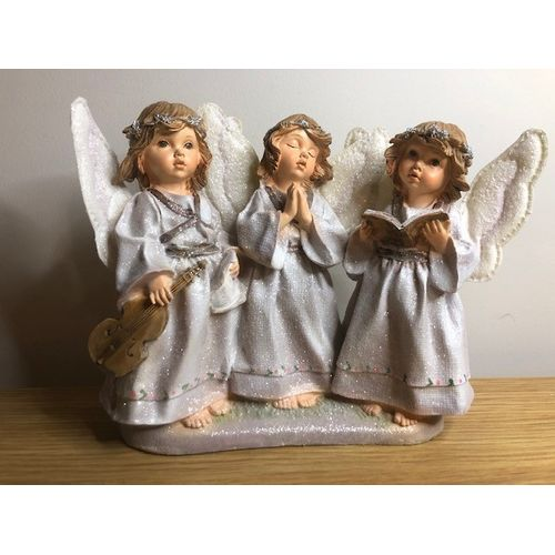 3 choice angels in a silver finish