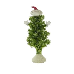Bobble Santa Christmas Tree With Lights Ornament