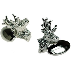 Stag Silver Plated Chain Link Cufflinks