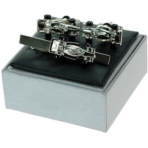 Racing Car Cufflinks & Tie Bar Gift Set