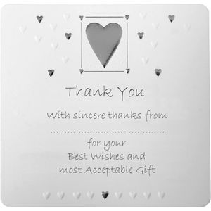 Wedding Thank You Cards - Silver Heart design