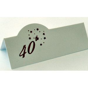 40th Celebration Place Cards