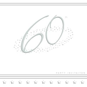 60th Invitations pack of 5