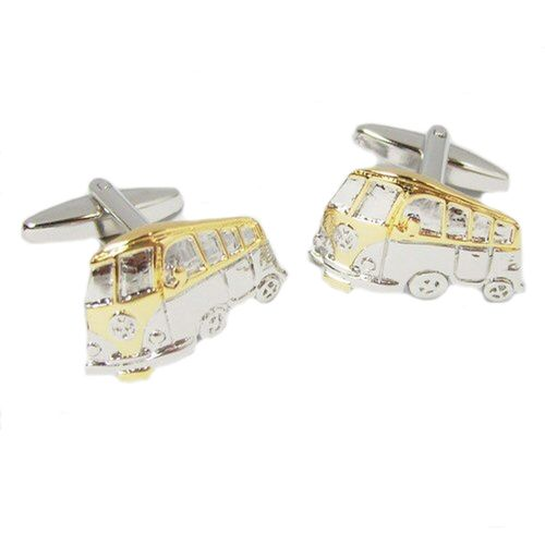 Classic VW Camper Van Novelty Mens Cufflinks