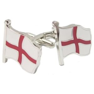 England Flying St George Cross Flag Cufflinks