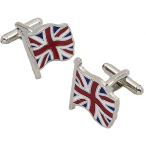 UK Union Jack Flying Flag Cufflinks