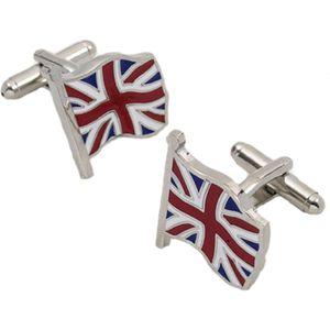 UK Union Jack Flying Flag Cufflinks