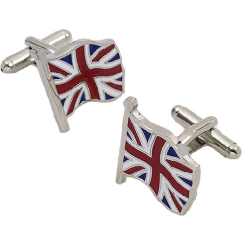 Flying British Union Jack novelty Cufflinks