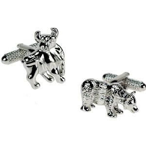 Bull & Bear Stock Market Cufflinks