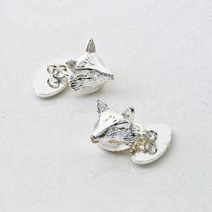 Fox Silver Plate Cufflinks