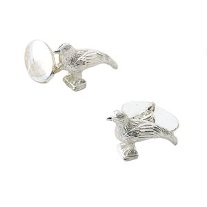 Pheasant Silver Plated Cufflinks