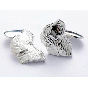 Sterling Silver Retriever Cufflinks