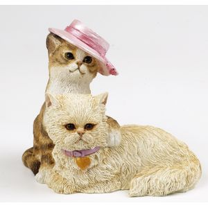 Country Artists Cats in Hats Figurine - Best Friends