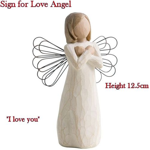 Willow Tree Sign for Love Angel Figurine 26110