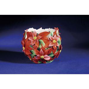 Franz Porcelain Poinsettia Flower Vase