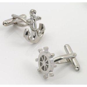 Ships Wheel & Anchor Cufflinks