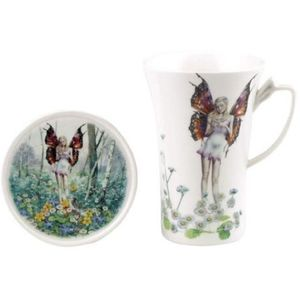 Country Artists Fairy Way Mug and Coaster Set - Daisy