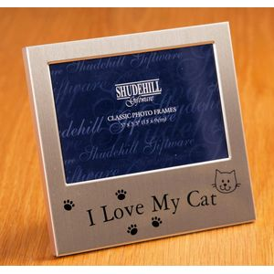 "Message Photo Frame 5"" x 3"" - I Love My Cat"
