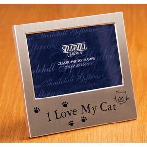 "Message Photo Frame 5"" x 3"" - I Love My Cat"