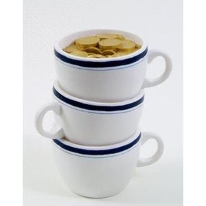 Stacked Tea Cups Money Bank