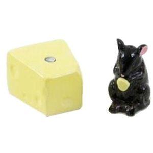 Ceramic Salt & Pepper Cruet Set - Mouse & Cheese