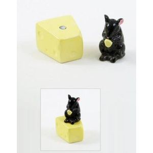 Mouse on Cheese Salt & Pepper Pots