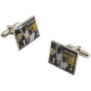 Border Fine Arts Studio Collection Cufflinks - Border Collie Dogs