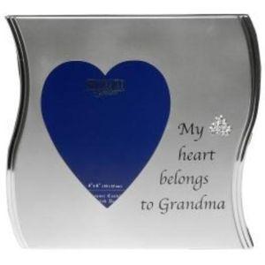 "Wave Photo Frame 4"" x 6"" - My Heart Belongs to Grandma"