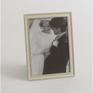 Silver & Ivory Beaded Picture Frame 5x7""