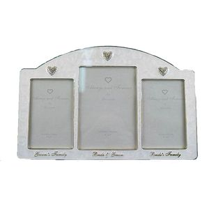 Always & Forever Wedding Family Triple Photo Frame