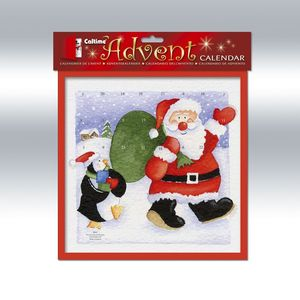 Advent Calendar - Waving Santa & Penguin