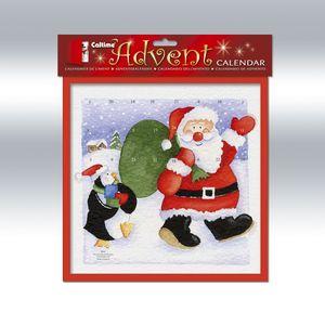 Waving Santa & Penguin Advent Calendar
