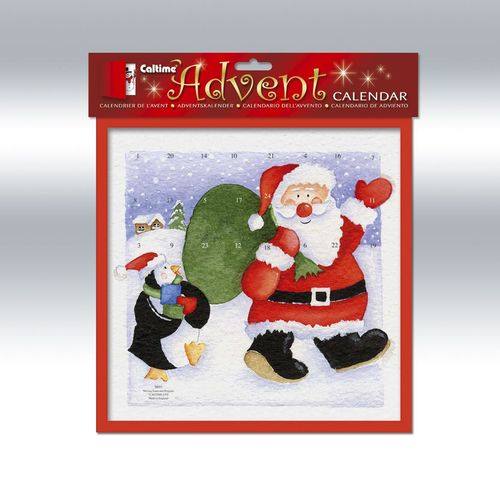Christmas Santa Advent Calender With Envelope