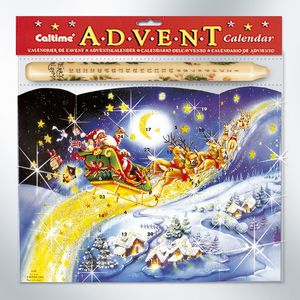 Advent Calendar & Candle - Santa Star Trail