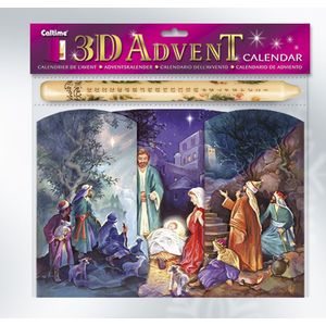 Manger Scene advent calendar & candle set