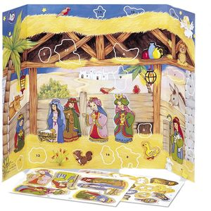 Manger Scene Advent Calendar with Stickers